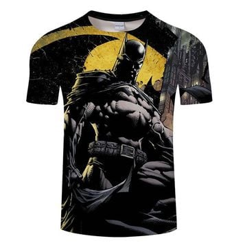 Batman Dark Knight gift Christmas New Fashion Superman Batman 3D T Shirt Summer Style Men Short Sleeve Casual T-shirt Superhero Top Tees Asian size Tshirt s-6xl AT_71_6