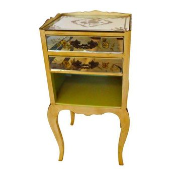 Pre-owned Mirrored French Side Table Night Stand