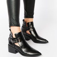 ASOS RELISH Cut Out Pointed Ankle Boots
