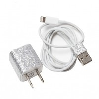 Silver Glitter Charger for iPhone 5 by Phunkee Tree - ShopKitson.com