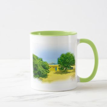 Air Brushed Painted Chicago Lake Shores Mug
