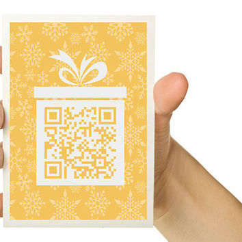 Customizable QR Code Christmas Card  Personalize by TheWallaroo