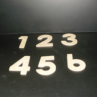 Wedding Table Numbers 1-20 Unfinished Wood Style 12 Stk No TN-12-.18-3-20