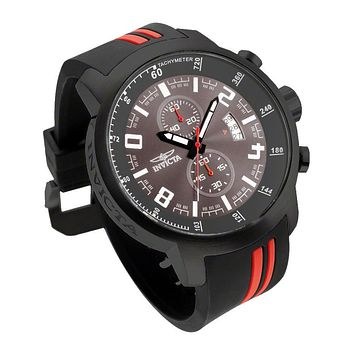 INVICTA S1 Rally Mens Chronograph - Gray Dial - Black / Red Case & Strap