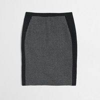 Factory colorblock pencil skirt in houndstooth : Wear To Work | J.Crew Factory