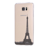 Eiffel Tower Paris France Samsung Galaxy S6 Edge Clear Case Galaxy S6 Transparent Case Samsung S5 Hard Cover C021