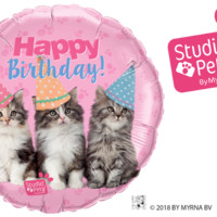 Birthday Kittens Balloon