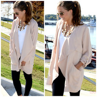 Downtown Bound Beige Trouser Jacket