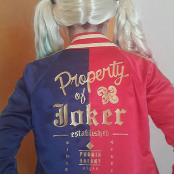 Harley Quinn Suicide Squad movie jacket cosplay custom made costume