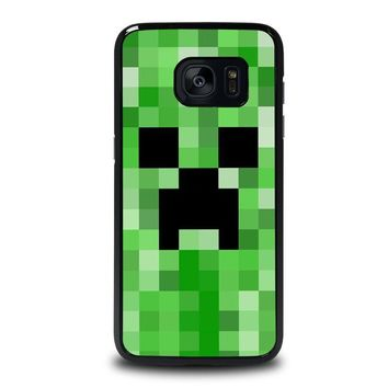 creeper minecraft 2 samsung galaxy s7 edge case cover  number 1