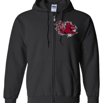 Official NCAA University of South Carolina Fighting Gamecocks USC COCKY SC Camo Basic Zip Hoodie - 36SC-03