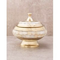 Mother Of Pearl Brass Offering Bowl