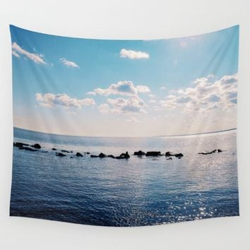Take the Stepping Stones Wall Tapestry by Adrienne Page