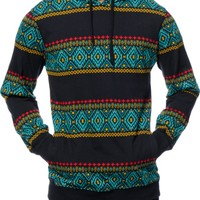 Empyre Strange Tribal Long Sleeve Hooded Shirt