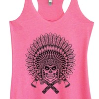 Womens Tri-Blend Tank Top - Skull
