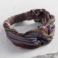 Purple Stripe Turban Headband