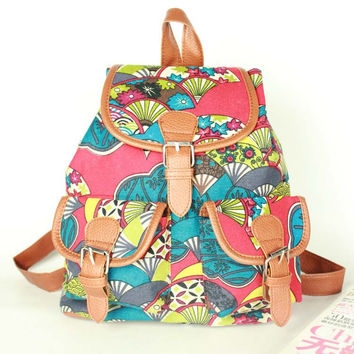 College Back To School Hot Deal On Sale Comfort Hot Sale Vintage Ladies Stylish Casual Canvas Small Size 3-color Backpack [8070740231]