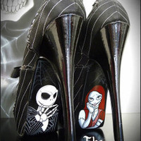 Nightmare Before Christmas Jack and Sally Heels