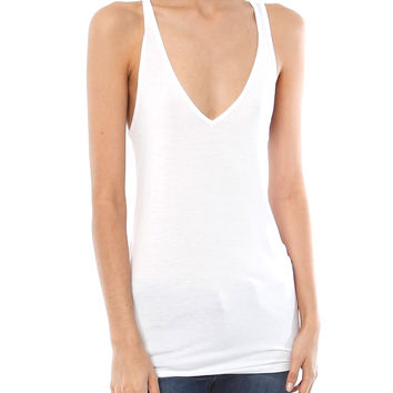 V FITTED RACER TANK