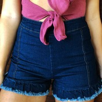Warmer Days Shorts: Dark Denim