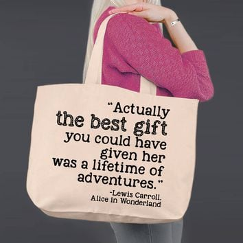 The Best Gift | Alice In Wonderland | Canvas Tote Bag