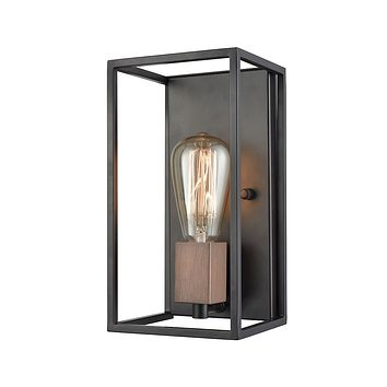 14460/1 Rigby 1 Light Wall Sconce In Oil Rubbed Bronze And Tarnished Brass