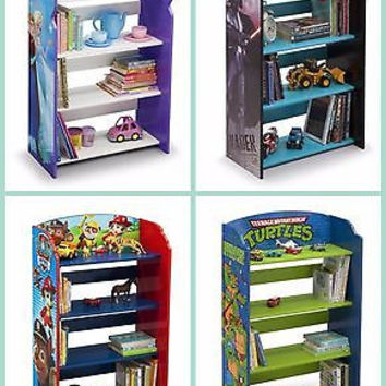 Kids, Toddlers 4 Shelf Character Bookcase, Bookshelf, Storage, Toy Organizer