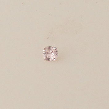 Peach Pink Cushion Sapphire 5.7mm Loose Faceted Gemstone for Engagement Ring or Other Fine Gemstone Jewelry