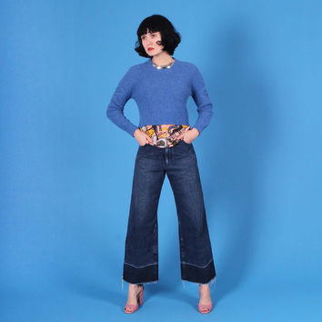 Cropped Pullover, Blue