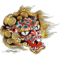 Ed Hardy Asian Dragon Temporary Tattoo