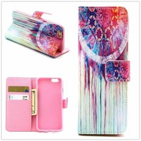 Hight Qulity Ethnic Minorities Tribal Print PU Leather Case Cover Wallet for iPhone 6 / iPhone plus