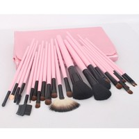 23pcs Pink Professional Cosmetic Makeup Make up Brush Brushes Set Kit With Bag Case