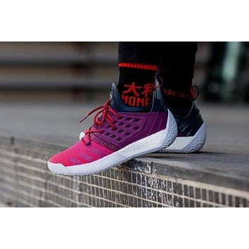Adidas James Harden Vol. 2 Maroon Sneakers Basketball Shoes