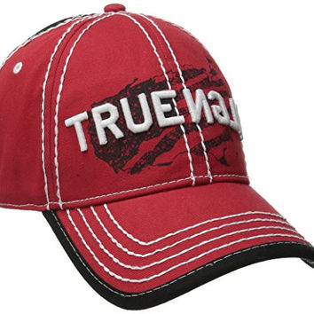 True Religion Men's Religion USA Baseball Cap, True Red, One Size