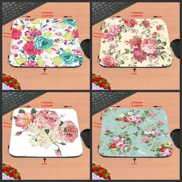Mairuige Colorful Roses New Arrival Customized Rubber Gaming Mouse Pad Computer Notebook Non-Slip Mousepad 18*22/25*20/29*25*2cm