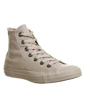 converse converse all star hi tan sand mono unisex sports