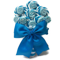 Lollipop Wedding Bouquet (Light Blue)