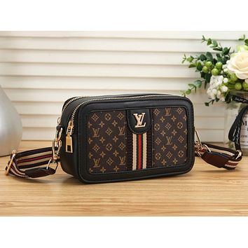 Louis Vuitton LV Trending Popular Women Shopping Leather Shoulder Bag Crossbody Satchel Black