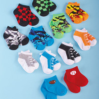Unique Designs Bright Colored Baby Sock Sets for Boys