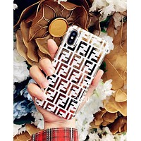 GUCCI FENDI BURBERRY DIOR Fashionable Personality iPhone Phone Cover Case For iphone 6 6s 6plus 6s-plus 7 7plus 8 8plus iPhone X XR XS XS MAX