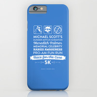 The Office Season 4 Episodes 1-2 - Michael Scott Rabies Awareness Fun Run iPhone & iPod Case by Noonday Design