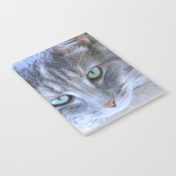 Aqua Eyes Notebook by Theresa Campbell D'August Art