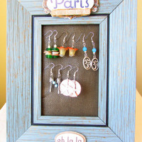 Earring Holder, Earring Organizer, Paris Earring Holder, Earring Hanger, Gift for the Fashionista