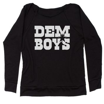 Dem Boys Dallas Football Slouchy Off Shoulder Sweatshirt