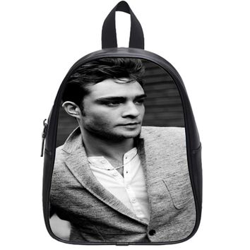 Chuck_Bass_Greyscale School Backpack Small