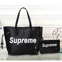 Supreme x LV Louis Vuitton Women Shopping Bag Tote Handbag Wallet Purse Two Piece Suit
