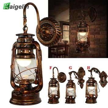 Kaigelin Wall Sconces Vintage Wall Lamp E27 LED Bulb Loft Retro Wall Luminaire Lamps Fixture Antique Glass Industrial Wall Light