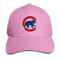 Sunny Fish6hh Unisex Adjustable Chicago Cubs Baseball Caps Hat One Size Pink