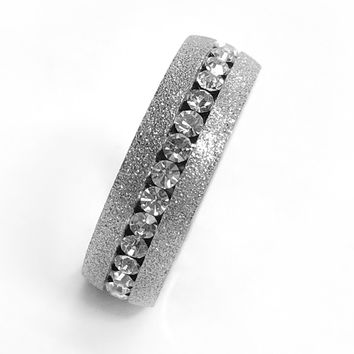 ON SALE - Silver and White Channel Set CZ Eternity Ring