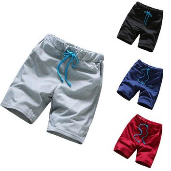 2017 shorts men  Shorts  Casual Slim Solid Color Men Beach Short Pant Clothing Large Size Men Pants